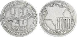 Poland / Lodz. 20 Mark Coin 1943 Aluminium With Certificate Of Authenticity