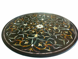 30and039and039 Marble Inlay Table Top Pietra Dura Home Garden Coffee Decor Antique B64