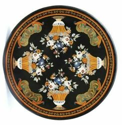 42 Marble Dining Table Top Inlay Rare Stones Round Center Coffee Table Ar1339