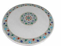 42 Marble Dining Table Top Inlay Rare Stones Round Center Coffee Table Ar1373