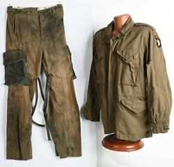 Ww2 101st Airborne M43 Jacket And M43 Trousers Used In Band Of Brothers Episode 5