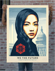Shepard Fairey Rewrite The Law Large Format Ed.75 Print Obey Giant We The Future