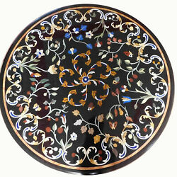 2and039x2and039 Table Marble Inlay Top Pietra Dura Home Antique Coffee Dining Decor B100