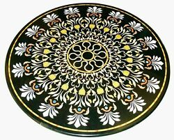 30and039and039 Marble Inlay Table Top Pietra Dura Home Garden Antique Coffee Decor B102