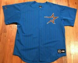 Vintage Astros Jersey2xl Xxl Gold Teal Blue Mlb Limited Edition Majestic New