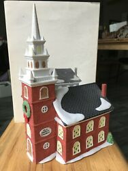 Dept 56 New England Village Old North Church 5932-3 Christmas Building Box 1988
