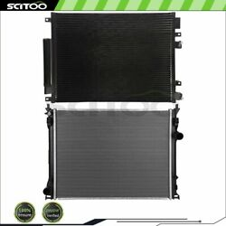 Car Radiator And A/c Condenser Fits 09-18 Dodge Challenger 09-13 Dodge Charger
