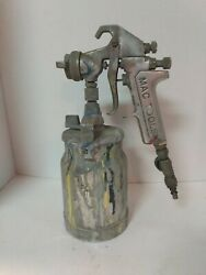 Vintage Mac Tools Sg505 Paint Spray Gun W/ Canister Made In Usa ----z1
