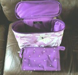 Modella Pink Floral Makeup Cosmetic Travel Case $9.99