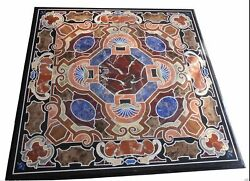 42 Marble Dining Table Top Inlay Rare Stones Square Center Coffee Table Ar1389