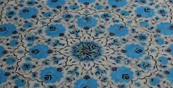 42 Marble Dining Table Top Inlay Rare Stones Round Center Coffee Table Ar1390