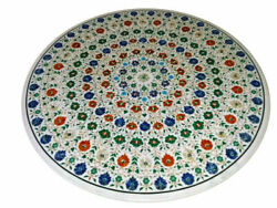 42 Marble Dining Table Top Inlay Rare Stones Round Center Coffee Table Ar1400