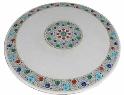 42 Marble Dining Table Top Inlay Rare Stones Round Center Coffee Table Ar1409