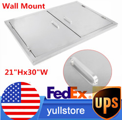 2 Packs Kitchen Cabinet Doors Stainless Wall Hanging Doors For Mall Workshop