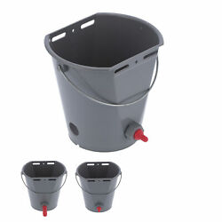 8l Plastic Feeder Bucket With Nipples Check Valves Feeding Equipment For Live Ss