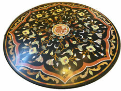 48 Marble Dining Table Top Inlay Rare Stones Round Center Coffee Table Ar1446