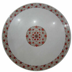 48 Marble Dining Table Top Inlay Rare Stones Round Center Coffee Table Ar1453