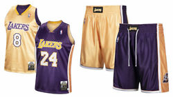 Mitchell Ness 2001 Lakers Kobe Bryant 2008 Authentic Reversible Jersey And Shorts