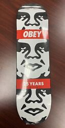 Brand New Obey Giant Shepard Fairey 3 Face Andre Skate Deck 25 Years - Authentic