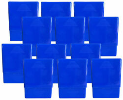 12 Pack Blue Crush-proof Plastic 2 Piece Cigarette Case For King And 100s - 3203