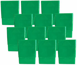 12 Pack Green Crush-proof Plastic 2 Piece Cigarette Case For King And 100s - 3203