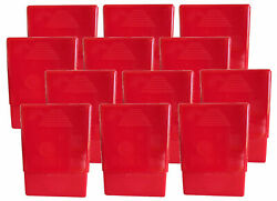 12 Pack Red Crush-proof Plastic 2 Piece Cigarette Case For King And 100s - 3203