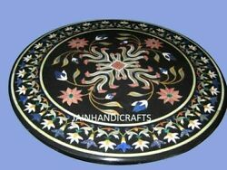 30and039and039 Marble Inlay Table Top Pietra Dura Home Garden Antique Coffee Decor B155