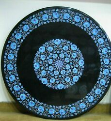 30and039and039 Marble Inlay Table Top Pietra Dura Home Garden Antique Coffee Decor B157