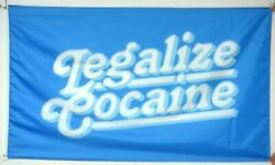Legalize Cocaine 3x5 feet flag forfor Man Cave Wall Room party funny dorm