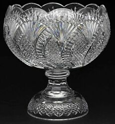 Waterford Crystal Seahorse 12.5 Punch Bowl-56039 - Made In Ireland - Very Rare