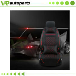 Full Set Interior Car Seat Covers Deluxe Pu Leather For 5-seats Car Suv Truck
