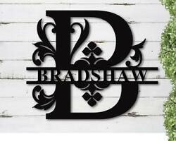 Personalized Last Name Metal Signs Family Name Black Plaque Wall Art Gift