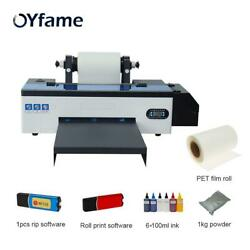 R1390 A3 Dtf Printing Machine Transfer Printer With + Dtf Pet Film Roll Print
