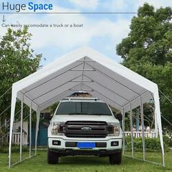 Peaktop Outdoor 12x20ft Heavy Duty Shed Canopy Carport Car Shelter Boat Cover Us
