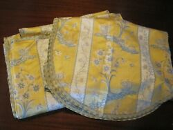 Gorgeous 19th C Georgian Or Early Victorian Silk Brocade Valence And Panel French
