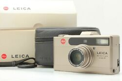 【boxed N Mint+++】 Leica Minilux Zoom Silver 35mm Film Camera W/ Case From Japan
