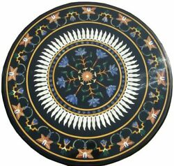30and039and039 Marble Inlay Table Top Pietra Dura Home Garden Antique Coffee Decor B156