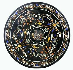 2and039x2and039 Table Marble Inlay Top Antique Coffee Dining Pietra Dura Home Decor B131
