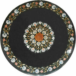 30and039and039 Marble Inlay Table Top Pietra Dura Home Garden Antique Coffee Decor B115