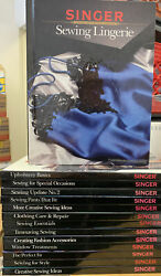 Lot Of 14 Singer Sewing Reference Library Books Vintage Vgc Some Appear Unused