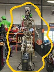 12 Ft Foot Giant Skeleton W/ Animated Lcd Eyes Halloween Prop Home Depot New