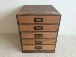 Wooden Small Drawer Early Showa Antique Tools Vintage Japan Retro Furniture