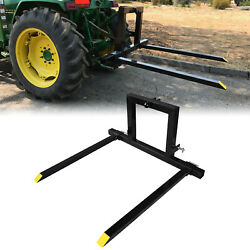 3 Point Hitch Adjustable Pallet Fork 1500 Lbs Attachments Tractor Category 1