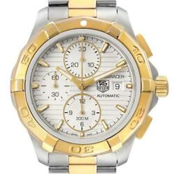 Tag Heuer Aquaracer Chronograph Steel Yellow Gold Watch Cay2112 Box Card