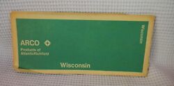 Vintage Arco Gas Co Travel Map Of Wisconsin--1972 Edition--rand-mcnally