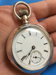 Antique 1887 Chicago Illinois R.w. Sears Lawrence. 18s Coin Silver Pocket Watch