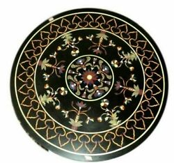 2and039x2and039 Table Marble Inlay Top Antique Coffee Dining Pietra Dura Home Decor B119