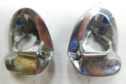 1955 1956 Chevy Belair 210 150 Wagon Wiper Escutcheons Right And Left 5