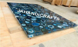 24 X 36 Marble Coffee Table Top Luxury Blue Agate Table Top For Your Home