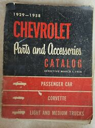 Parts Book 1929 1958 Chevrolet Parts And Accessories Catalog For Car Truck